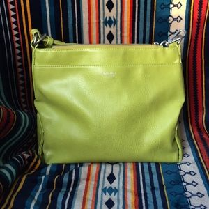 Matt & Nat Vegan Lime Green Cross body tote purse